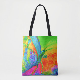 Blooming Art - Butterfly SHOPPING with CraftiesPot Tote Bag
