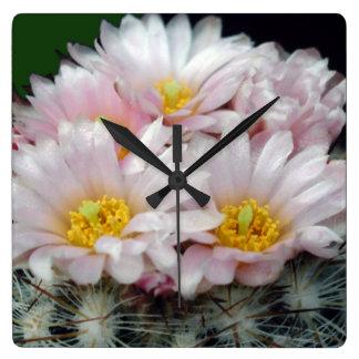 Blooming Cactus Acrylic Wall Clock