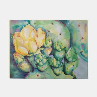 Blooming Cactus Kitchen mat