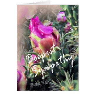Blooming Cactus-sympathy card