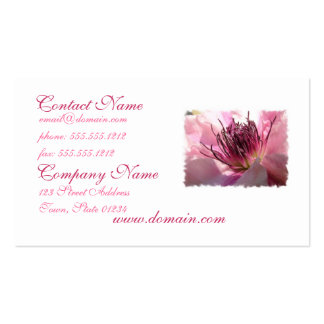 Blooming Clematis Business Cards