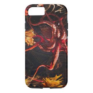 Blooming Crimson Octopus iPhone 8/7 Case