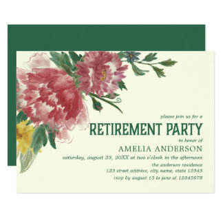 Blooming Flowers Retirement Party Invitation