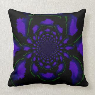 Blooming Fractal Throw Pillow