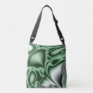 Blooming Green Fractal Crossbody Bag
