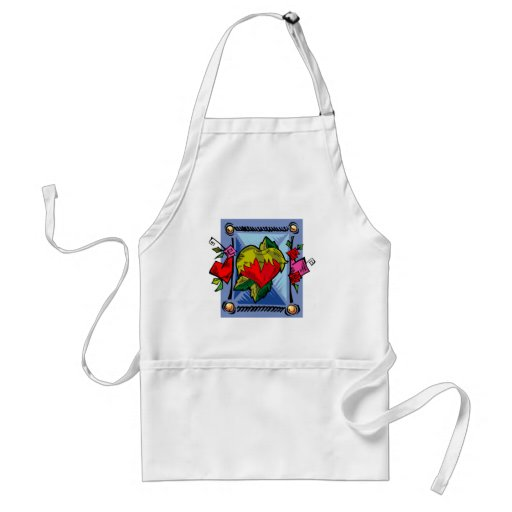 Blooming Heart Love Valentine Aprons