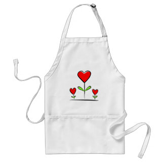 Blooming Hearts Flowers Love Heart Standard Apron