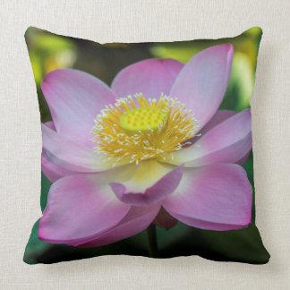 Blooming lotus flower, Indonesia Throw Pillow