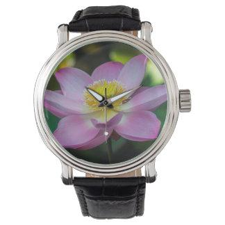 Blooming lotus flower, Indonesia Wrist Watches