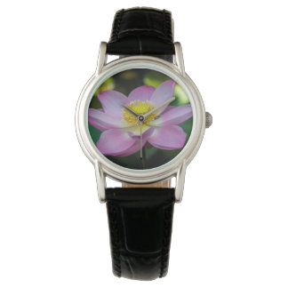 Blooming lotus flower, Indonesia Wristwatch