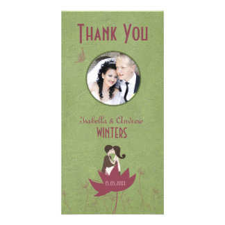 Blooming Love 2 Thank You Photo Personalized Photo Card