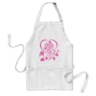 blooming love heart standard apron