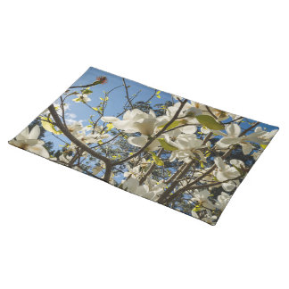 Blooming magnolias placemat