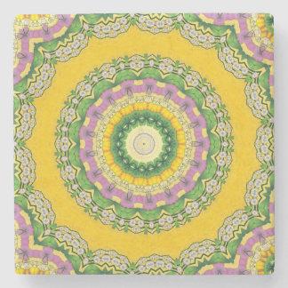 Blooming mandala Marble Stone Coaster