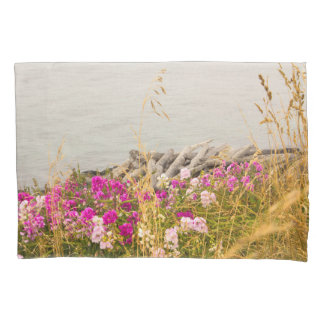 Blooming Ocean Shore Line Pillow Case Pillowcase