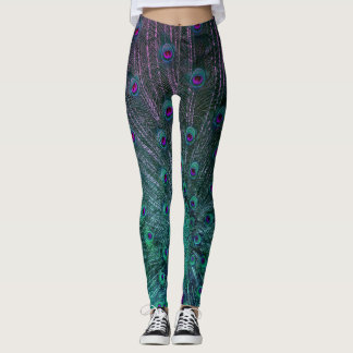 BLOOMING PEACOCK LEGGINGS