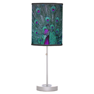 BLOOMING PEACOCK TABLE LAMP