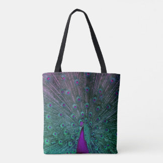 BLOOMING PEACOCK TOTE BAG