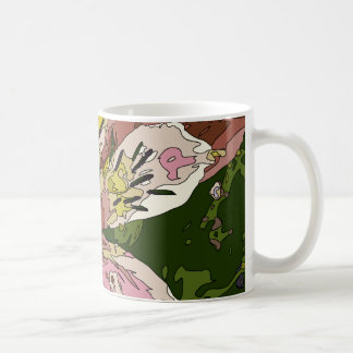 Blooming Pink Lily Flower Painting Mug