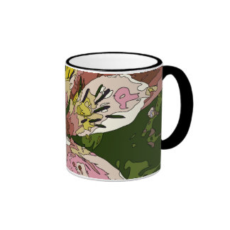 Blooming Pink Lily Flower Painting Mugs