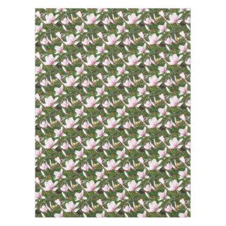 Blooming Pink Magnolia (Tulpenbaum) Tablecloth