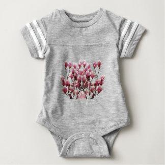 Blooming Pink Magnolias Spring Flower Baby Bodysuit