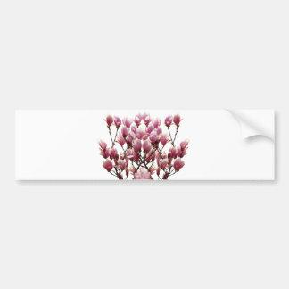 Blooming Pink Magnolias Spring Flower Bumper Sticker