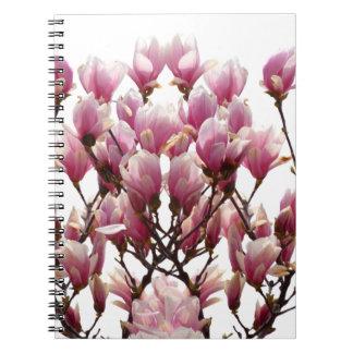 Blooming Pink Magnolias Spring Flower Notebooks