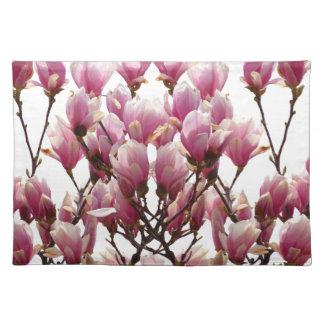 Blooming Pink Magnolias Spring Flower Placemat