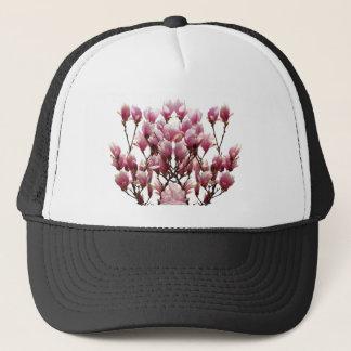 Blooming Pink Magnolias Spring Flower Trucker Hat