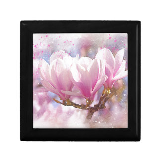 Blooming Pink Purple Magnolia - Spring Flower Gift Box