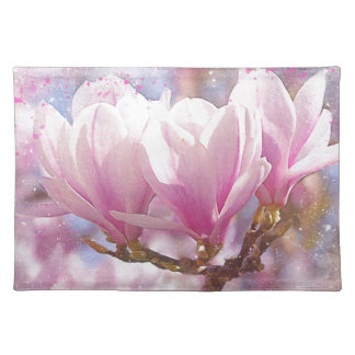 Blooming Pink Purple Magnolia - Spring Flower Placemat