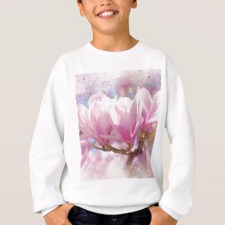 Blooming Pink Purple Magnolia - Spring Flower Sweatshirt