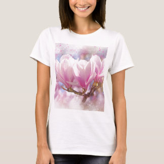 Blooming Pink Purple Magnolia - Spring Flower T-Shirt