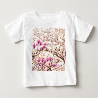 Blooming Pink Purple Magnolias Spring Flower Baby T-Shirt