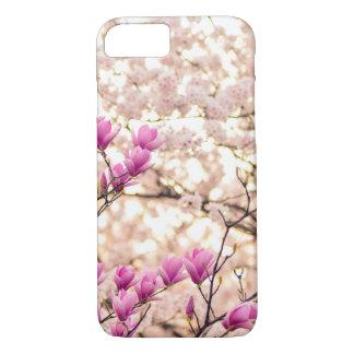 Blooming Pink Purple Magnolias Spring Flower iPhone 8/7 Case