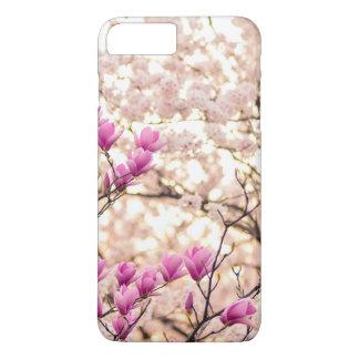 Blooming Pink Purple Magnolias Spring Flower iPhone 8 Plus/7 Plus Case