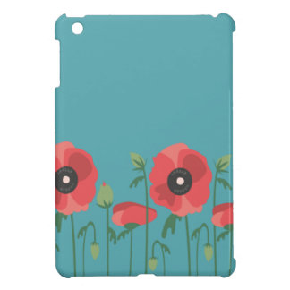 Blooming Poppy Field Print iPad Mini Cover