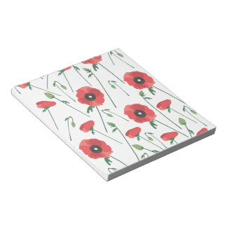 Blooming Poppy Field Print Notepads