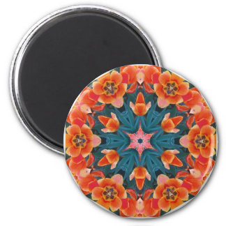 Blooming Poppy Tulips Magnet