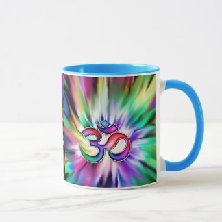 Blooming Rainbow Lotus OM Mug