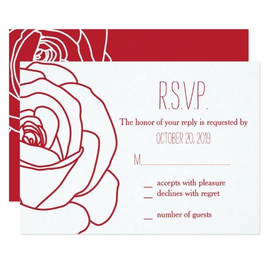 Blooming Red Rose, Response Cards