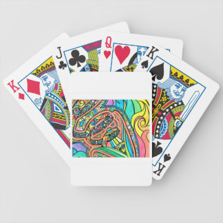 Blooming Ribbons Bicycle Playing Cards