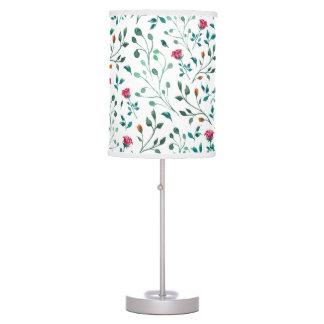 Blooming Rose Watercolor Pattern Table Lamp