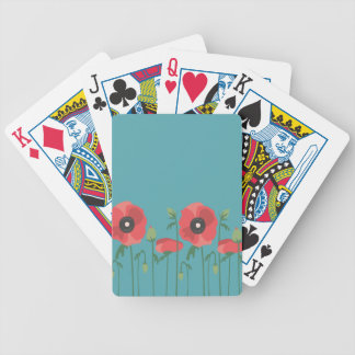 Blooming Springtime Poppies Bicycle Playing Cards