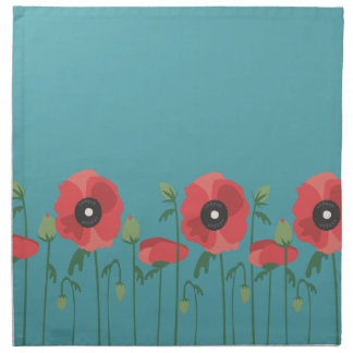 Blooming Springtime Poppies Napkin