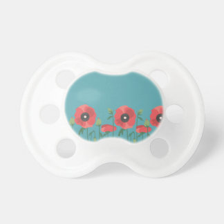 Blooming Springtime Poppies Pacifier