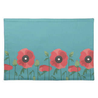 Blooming Springtime Poppies Placemat