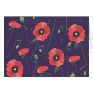 Blooming Springtime Poppies Purple Card