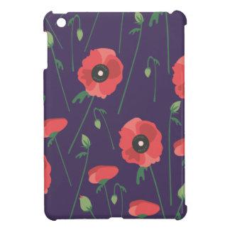 Blooming Springtime Poppies Purple iPad Mini Cases